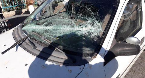 يافة الناصرة: جدال بين شبان عرب ويهود ينتهي باعتداء وإلحاق اضرار بسيارة