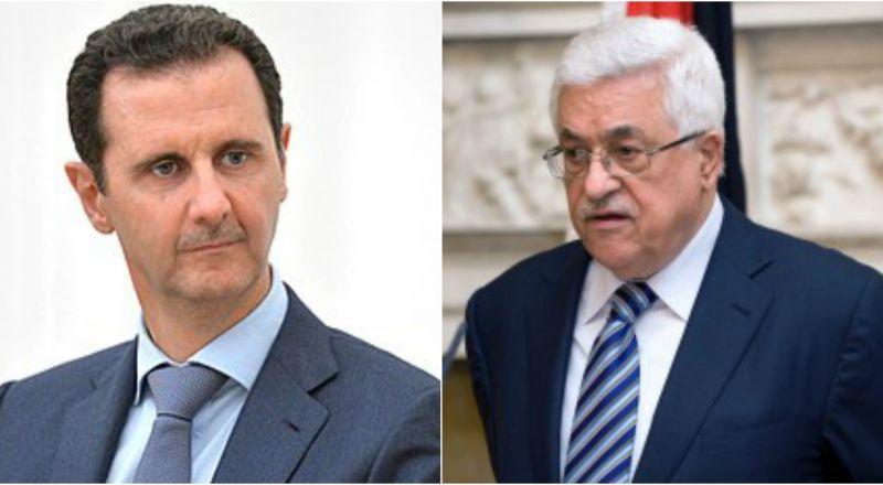 رسالة خطية من الرئيس محمود عباس لنظيره السوري بشار الأسد