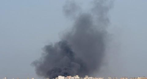 إسرائيل تقصف غزة، وسماع صافرات انذار جنوب البلاد
