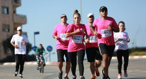 رام الله: تنظيم ماراثون رياضي للتوعية بسرطان الثدي