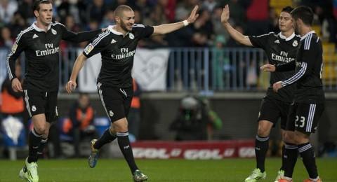 بيل يكسر عناد ملقا ويعزز موقع ريال مدريد في الصدارة