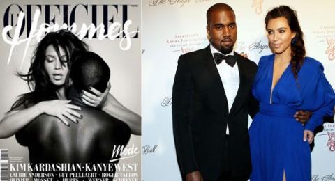 كيم وكيني عاريان على غلاف مجلة فرنسية!