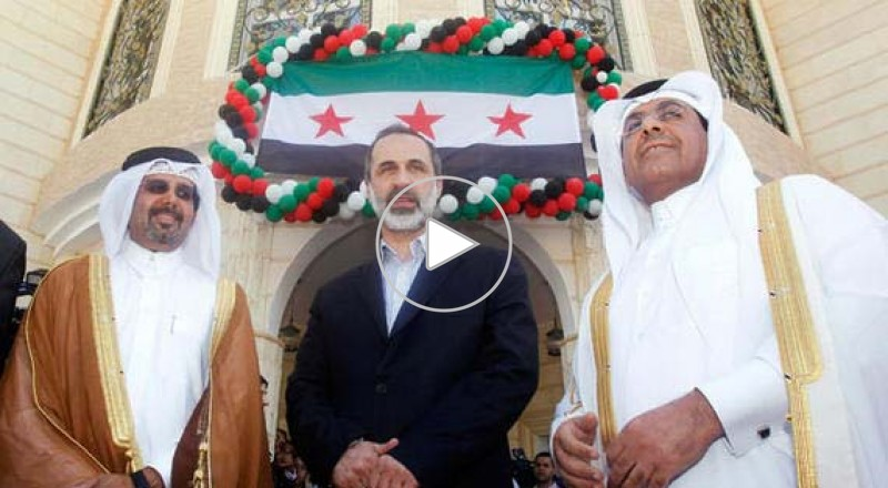 افتتاح أول سفارة للحكومة السورية المؤقتة في قطر