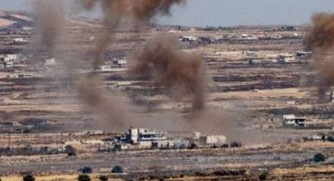 الجيش السوري يبدا عملية عسكرية على حدود اسرائيل