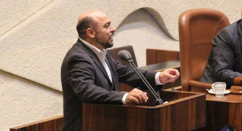 النائب مسعود غنايم يستنكر هدم بيوت وحظائر واقتلاع أشجار زيتون في قرية منشيّة زبدة