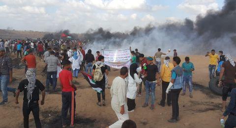 شهيدان و310 إصابة في غزة