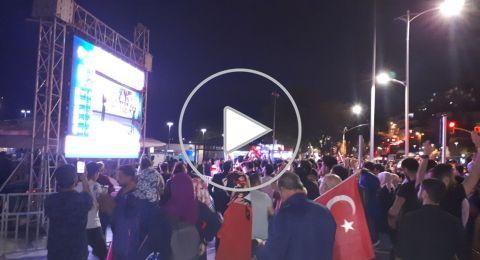 اسطنبول - خاص: احتفالات بفوز رجب طيّب اردوغان