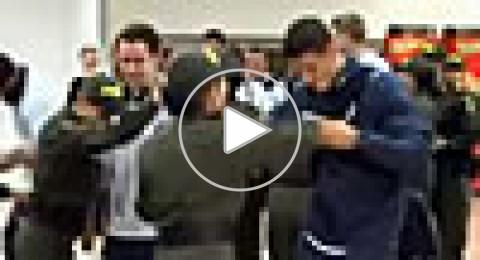 فيديو:كيف استقبلت شرطة كولومبيا النسائية منتخب إنجلترا؟