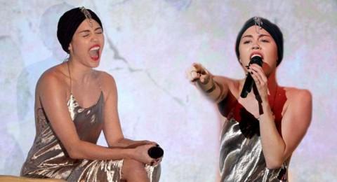 مايلي سايرس حافية القدمين بآداء ضعيف وبذيء في X Factor