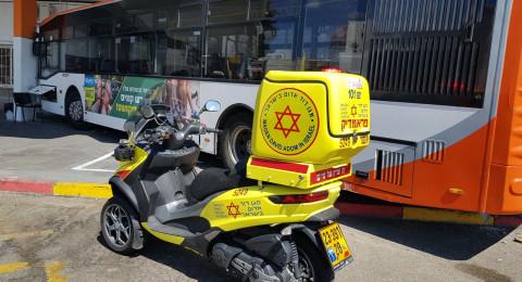 شاهدوا: حافلة تصطدم بمحل تجاري في نهاريا