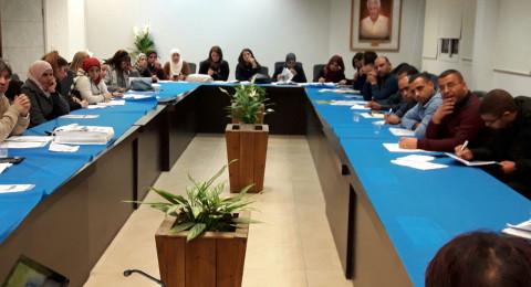 المدير العام للوزارة شموئيل أبواب يلتقي مركّزي المدارس الجماهيريّة في الوسطين العربي والبدوي.