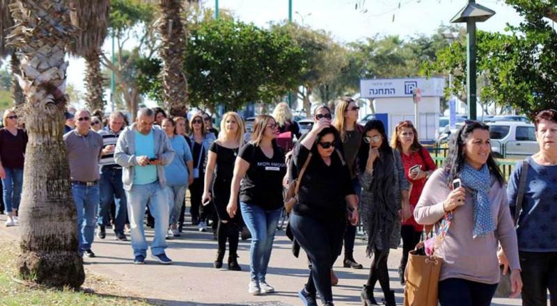 موظفو الجلبوع في رحلة ترفيهية إلى تل أبيب