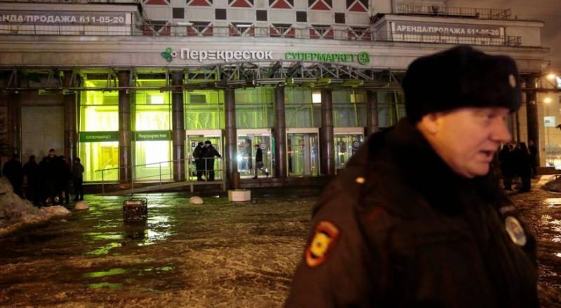 10 إصابات جراء انفجار بمركز تجاري في بطرسبورغ الروسية