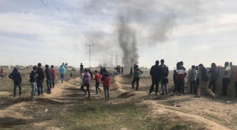 اصابة أكثر من 100 شاب في مواجهات مع الجيش في غزة