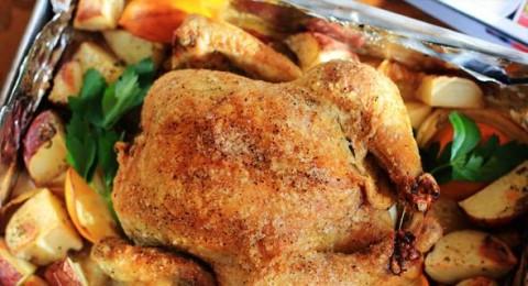 دجاج متبل بالثوم والكركم والبقدونس صحتين وعافية