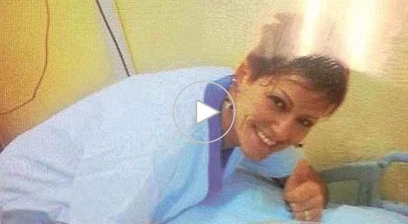 ممرضة تلتقط سيلفي مع جثث الموتى