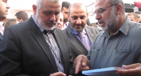 وفد حماس برئاسة هنية يعود الى غزة بعد زيارته للقاهرة