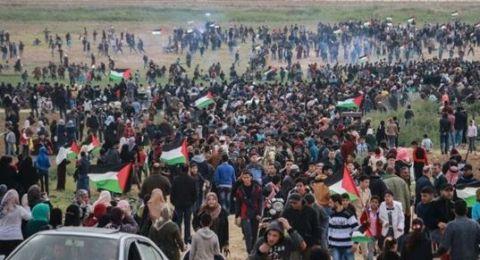 ارتفاع عدد الشهداء لـ8 في غزة .. ومئات الإصابات في مسيرة العودة الكبرى