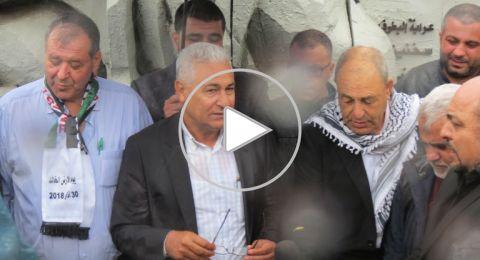 مشاركة القيادات العربية في زيارة اضرحة شهداء يوم الأرض الخالد في عرابة وسخنين