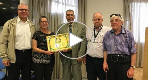بدعوة من وزارة الصحة، إدارة جمعية أطباء الأسنان العرب تشارك بتكريم د. رامون