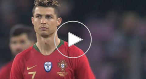 مشجعون يقتحمون ملعب مباراة البرتغال وهولندا لمعانقة رونالدو