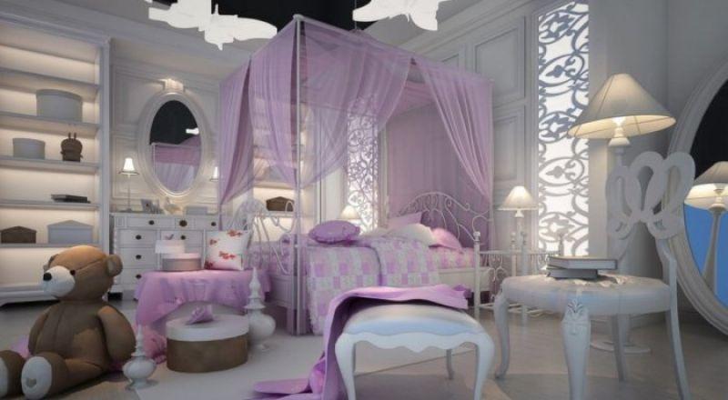 Alsayeda.  السيدة العربية   ديكورات غرف نوم بنات بألوان