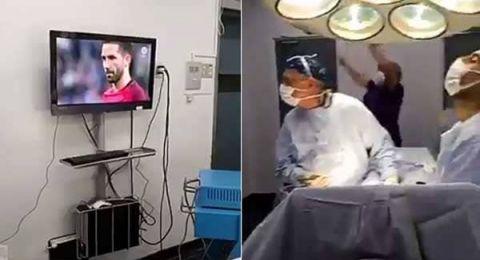 تشيلي: اطباء يتابعون مباراة منتخب بلادهم مع البرتغال أثناء عملية جراحية