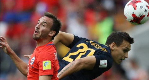 كأس القارات: تشيلي تتعادل مع أستراليا وتواعد البرتغال في نصف النهائي