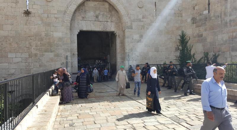 مخطط اسرائيلي لتحويل باب العمود الى قلعة محصنة