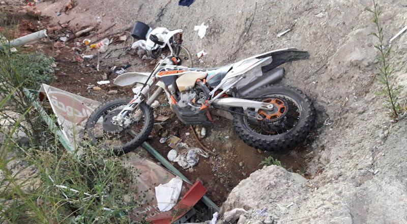 كفركنا: إصابة شاب بجراح خطيرة جراء إنقلاب دراجته النارية