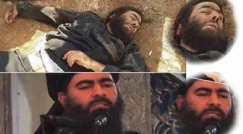 قيادي داعشي ينعي البغدادي وآخرون ينشرون صور جثته