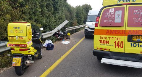 مصرع راكب دراجة نارية بحادث مروع قرب نهاريا