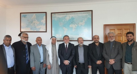 وفد الحركة الاسلامية يزور السفارة التركية