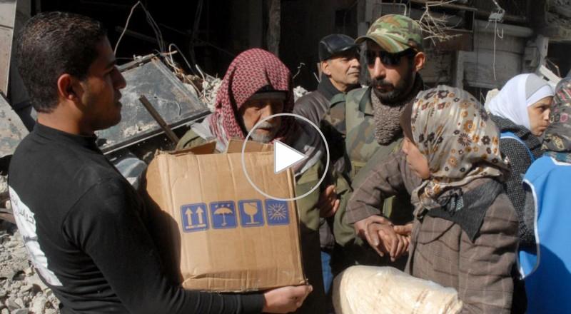 مساعدات غذائية إضافية تدخل مخيم اليرموك في جنوب دمشق