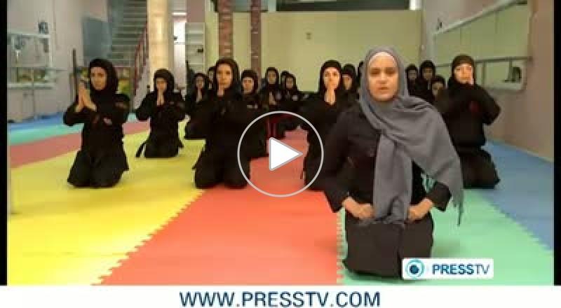 إيرانيات يتعلمن «النينجا» للدفاع عن النفس