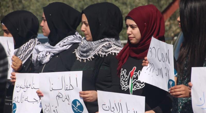 ام الفحم: وقفة احتجاجية للطلاب واولياء الامور ضد العنف واطلاق النار