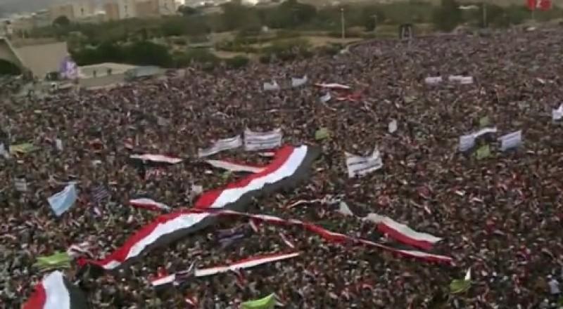 الآلاف يحتشدون في صنعاء في الذكرى الثانية لانطلاق عمليات قوات التحالف العربي