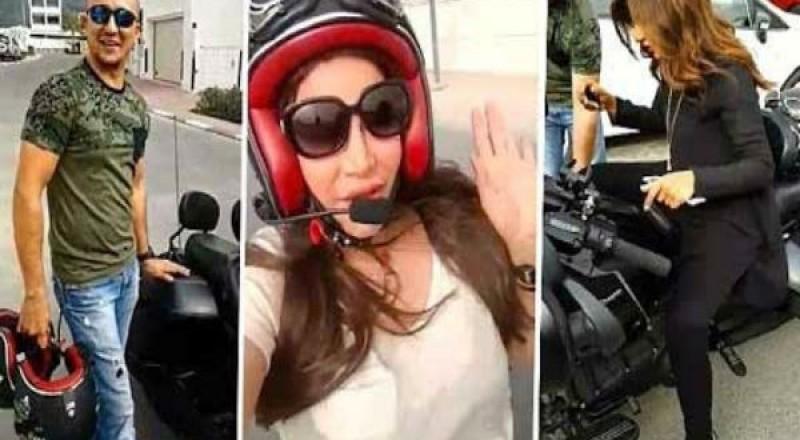 لجين عمران ومهيرة عبد العزيز تتجولان في شوارع دبي