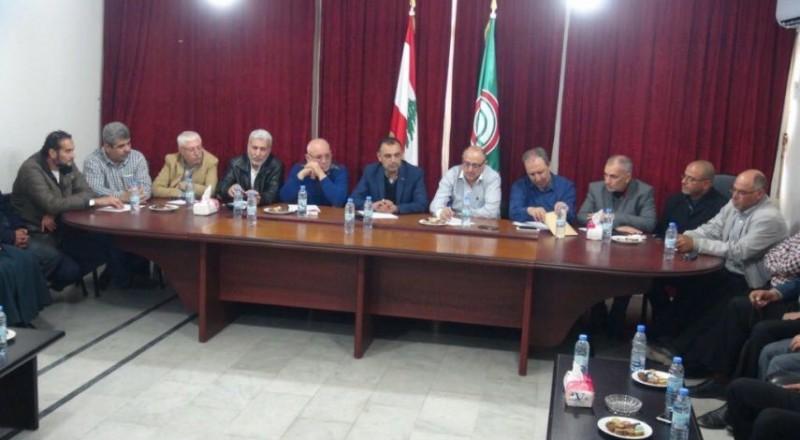 لقاء لبناني فلسطيني لتدارس الأوضاع