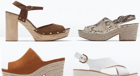أحذية الكعب العريض تسيطر على موضة 2015