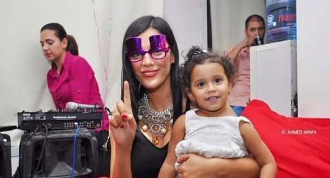 هبة السيسي تحتفل بعيد ميلادها ابنتها