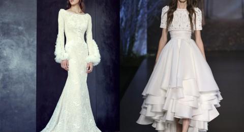 الفستان الأبيض.. نجم عروض الأزياء الراقية خريف 2015