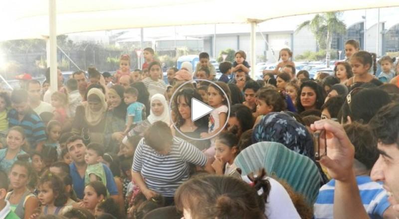 الناصرة: كشكش يلهب حماسة الأطفال في عرض كبير