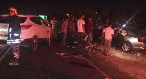 مصرع مواطنة واصابة 4 بحادث سير شرق قلقيلية .