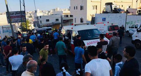 اصابة  14 طالب وطالبة بجروح مختلفة بحادث سير دهس بالخليل