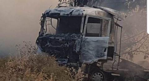 الشرطة: سائق الشاحنة المصاب من الطيبة الزعبية .. إصابته بالغة