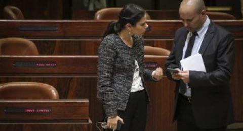 بنت وشكيد هم الوزراء الأكثر شعبية في الحكومة الإسرائيلية