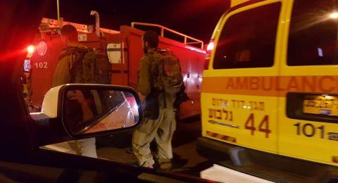 10 اصابات في حادث طرق بالقرب من اريحا