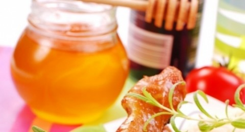 أفخاذ الدجاج بالعسل والزنجبيل