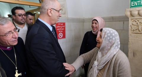 القدس: الحمد الله يتفقد مستشفى